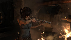 Lara and an automatic rifle? Does that fit?