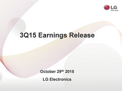 LG reporting lower sales and profit slump for Q3 2015