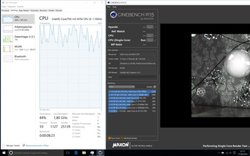 Windows 10: 2.4-2.6 GHz at first, then drop to 1.6-2.0 GHz