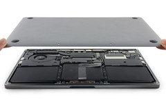 While the new MacBook Pro has a more power-efficient screen, it can't offset the reduction in battery size. (Source: iFixit)