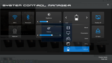 System Control includes a less-than-useful Eject button