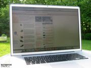 "…the MacBook Pro 17"" with a matt display can very well be used outdoors."