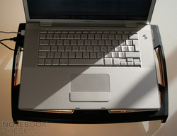 In the test the Antec Notebook Cooler 200 efficiently cooled the underside of the MacBook Pro from 2007.