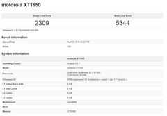 Motorola XT1650 smartphone spotted on Geekbench