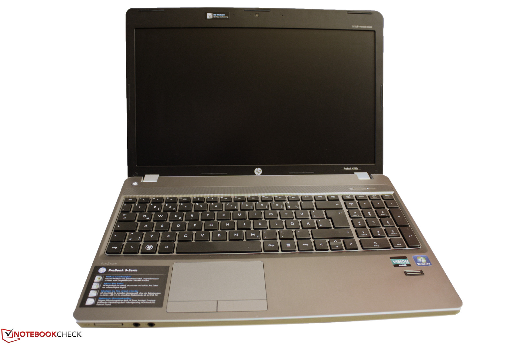 Review Hp Probook 4535s Lg855ea Notebook Notebookcheck