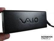 The small adapter is also embellished with the chic Vaio lettering.