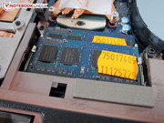 The other DDR3 RAM banks are found on the motherboard's opposite side.