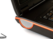 The speakers of the device, placed on the side edges, provide only a moderate sound.
