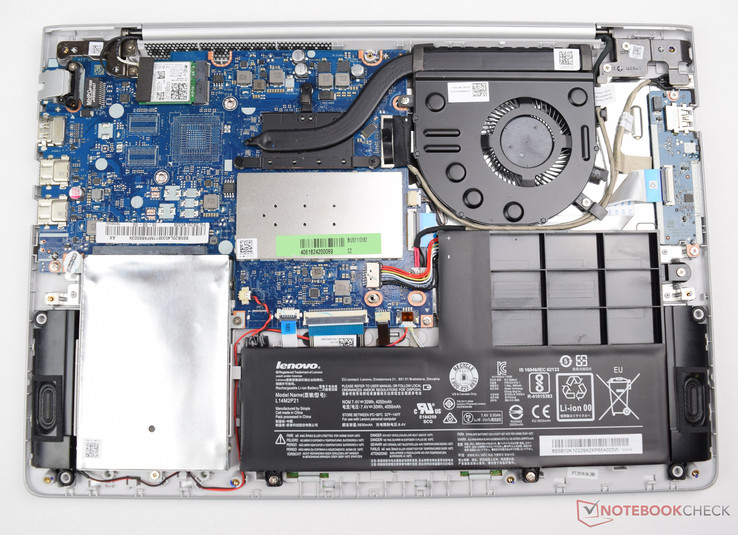 Lenovo IdeaPad 510S-14ISK with removed base plate