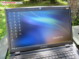 Outdoor use of the Gigabyte P27G v2