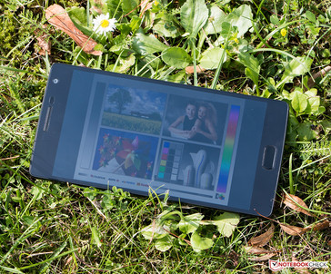You can still see the display content of the OnePlus 2 under direct sunlight.