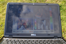 ...the Inspiron is not suitable for outdoor use.