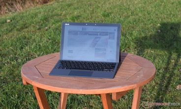 The glossy screen makes working outdoors a little hard.