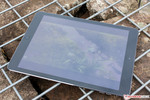 The Apple iPad Air outdoors.