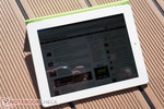 The new iPad in outdoor use in bright sunlight