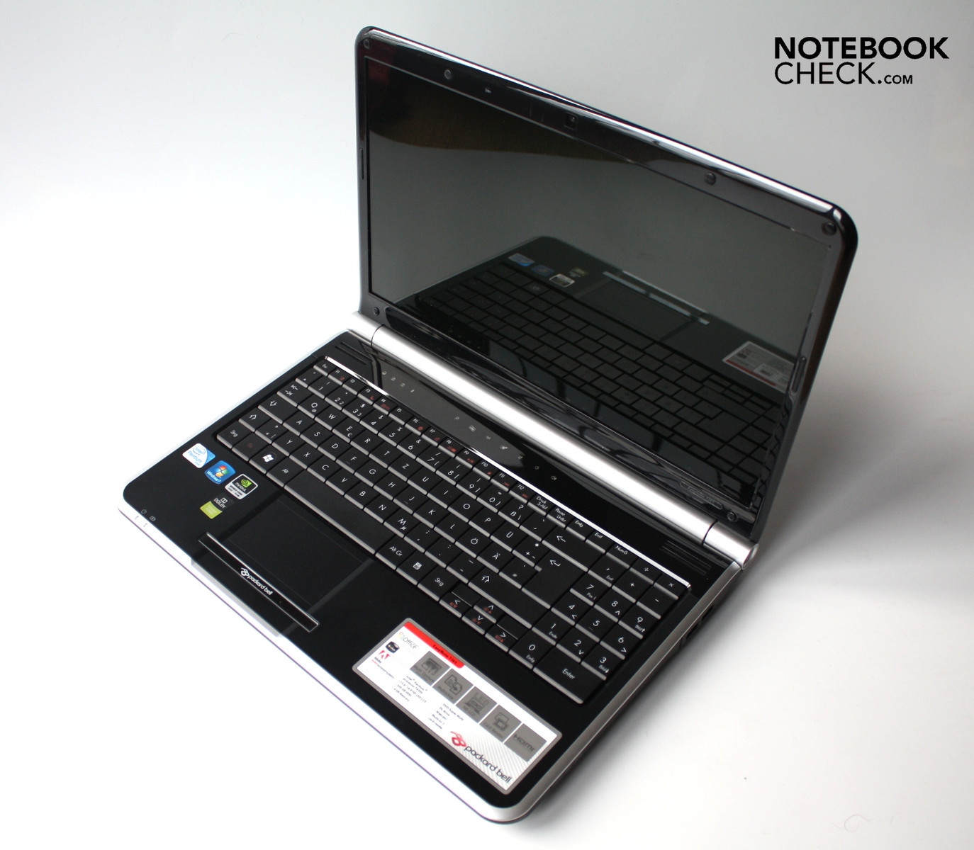 review packard bell easynote tj65 notebook notebookcheck. Black Bedroom Furniture Sets. Home Design Ideas