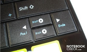 The middle arrow keys are very small
