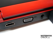 HDMI and VGA ports are on the back edge along with the power socket