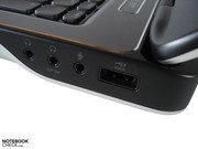 One of the four USB ports supports eSATA.