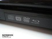 BluRay combo drive on the right