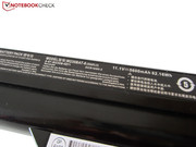 The battery is specified with 62 Wh...