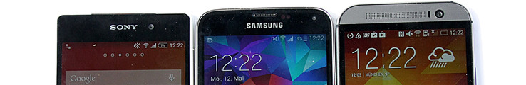 We compare the HTC One M8, the Samsung Galaxy S5 and the Sony Xperia Z2.