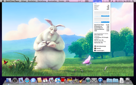 Big Buck Bunny 1080p MPEG4 Quicktime - GPU accelerated