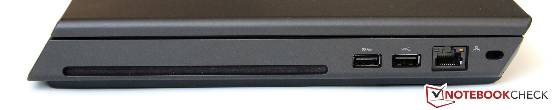 Right Side DVD Writer 2x USB 20 LAN Kensington Lock