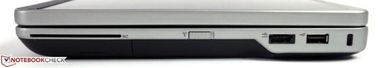 سمت راست: خواننده کارت هوشمند، سوئیچ بی سیم، 2X USB 2.0، قفل کنزینگتون