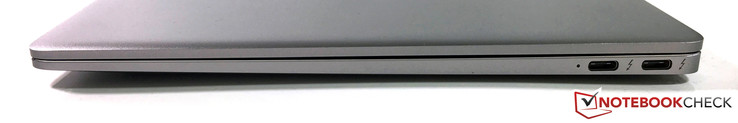 Right side: 2x USB 3.1 Type-C (Gen. 2) with Thunderbolt support