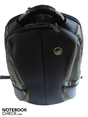 Front view of the backpack