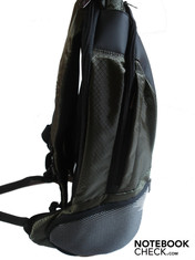 Side view of the backpack