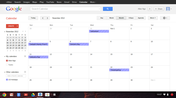 Calender and contacts will sync automatically