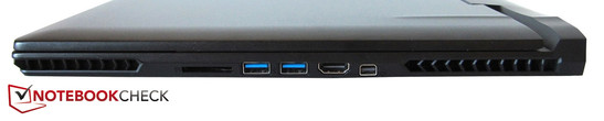 Right side: Card reader, 2x USB 3.0, HDMI, Mini DisplayPort