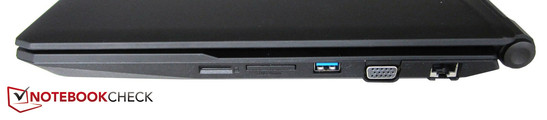 Right side: SIM card slot, card reader, USB 3.0, VGA, RJ45-LAN