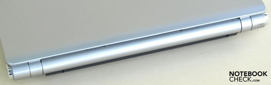 Rear side: battery