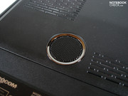 A small subwoofer is tucked away in the base plate.