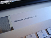The notebook supports Dolby Home Theater.