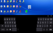 Split virtual keyboard