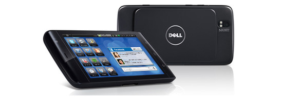 The Dell Streak is also available in black