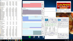 Stress test: high clock rates under 100% CPU load, throttling under CPU+GPU stress