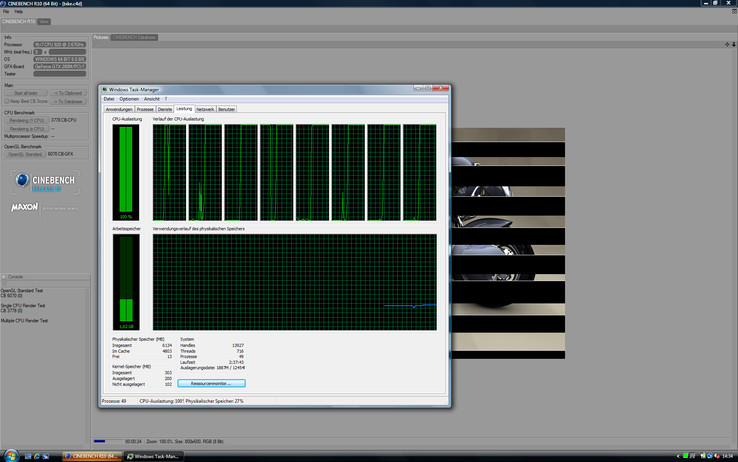 "Eight ""cores"" thanks to hyper-threading"