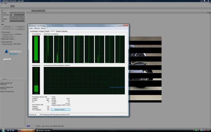 """Eight """"cores"""" thanks to hyper-threading"""
