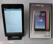 The box of the Memo Pad HD 7 is simple and compact.