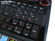 MSI has built-in a separate number pad.