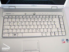 Keyboard of the Dell Inspiron 1525