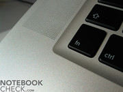 As in the MacBook Air, also this notebook comes with the user-friendly single-key keyboard.