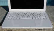 The keyboard layout is the same as the MacBook Pro models and the desktop keyboard.