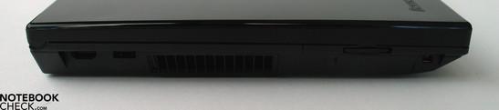 Linke Seite: HDMI Port, USB 2.0, SD Cardreader, Firewire