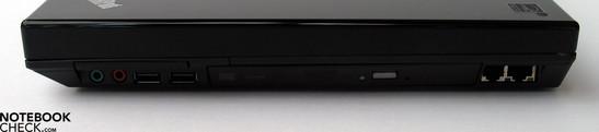 Left Side: 2x USB 2.0, HDMI, CardReader, FireWire